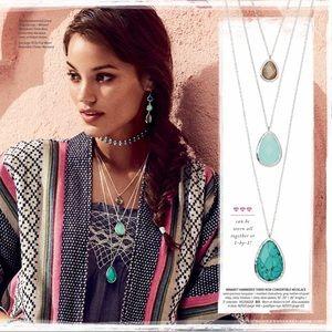 Chloe + Isabel Minaret Hammered Three Row Necklace